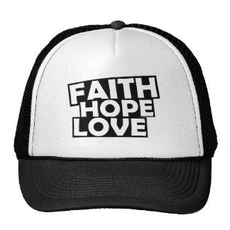 Faith Hope Love Mesh Hat
