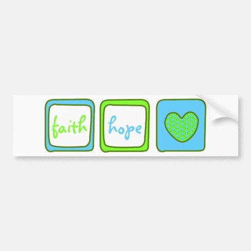 Faith Hope Love Heart 1 Corinthians 13:13 Bumper Sticker