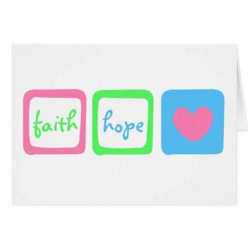 Faith Hope Love Heart 1 Corinthians 13:13 Greeting Card