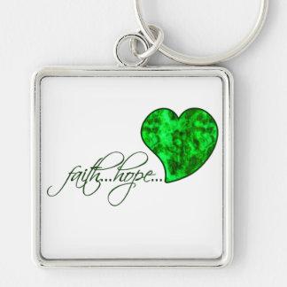 Faith Hope Love Heart 1 Corinthians 13:13 Key Chain