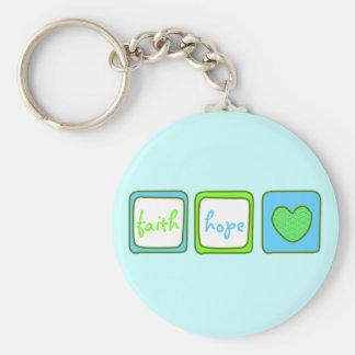 Faith Hope Love Heart 1 Corinthians 13:13 Keychains
