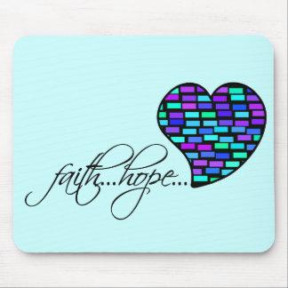 Faith Hope Love Heart 1 Corinthians 13:13 Mouse Pad
