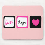 Faith Hope Love Heart 1 Corinthians 13:13 Mousepads