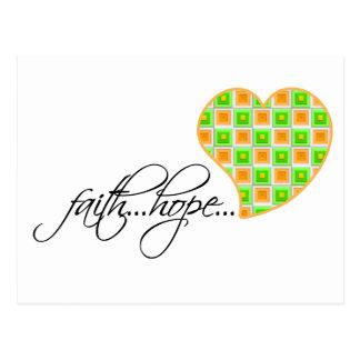 Faith Hope Love Heart 1 Corinthians 13:13 Postcard