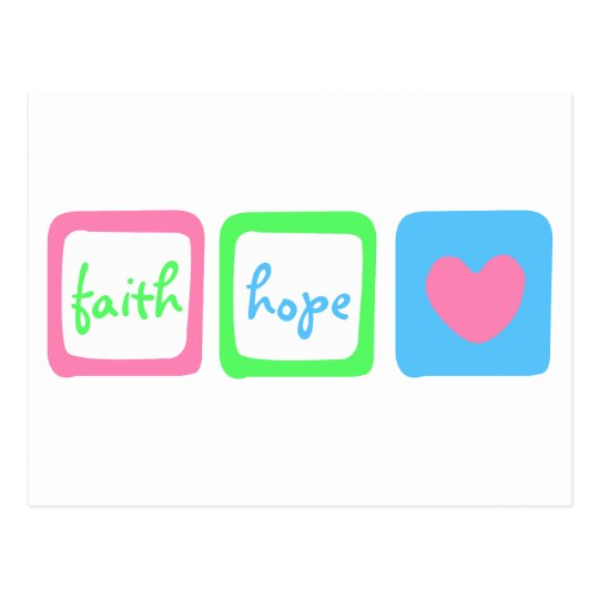 Faith Hope Love Heart 1 Corinthians 13:13 Postcard