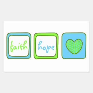 Faith Hope Love Heart 1 Corinthians 13:13 Sticker