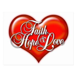 Faith Hope Love Heart Postcard