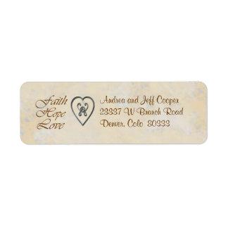 Faith Hope Love Heart Return Address Label