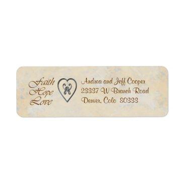 Valentines Themed Faith Hope Love Heart Return Address Label