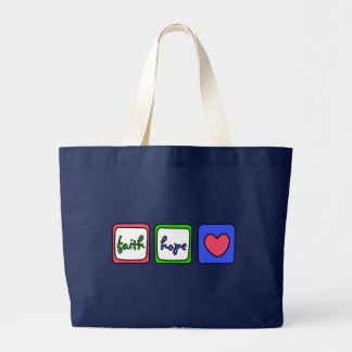 Faith Hope Love Hearts 1 Corinthians 13:13 Tote Bags