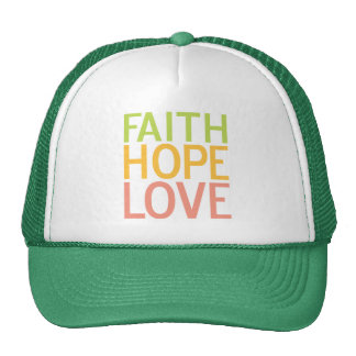 Faith Hope Love Inspirational Christian Hat Cap