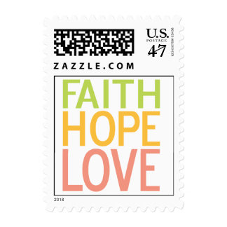 Faith Hope Love Inspirational Postage Stamp