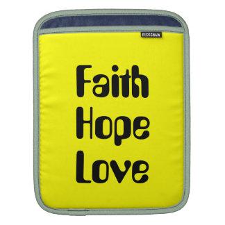 Faith hope love IPad sleeve