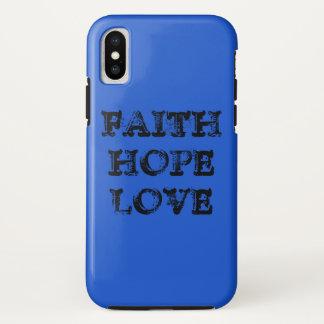 FAITH HOPE LOVE iPhone X CASE