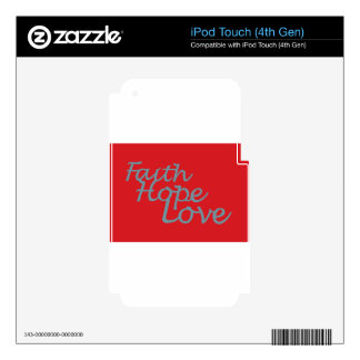 Faith Hope Love iPod Touch 4G Decals