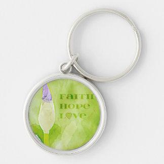 Faith, Hope, Love Iris Keychain