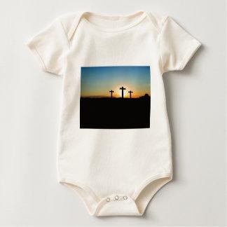 Faith, Hope,  & Love Jesus Christ Cross Baby Bodysuit