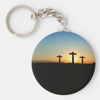 Faith, Hope,  & Love Jesus Christ Cross Keychain