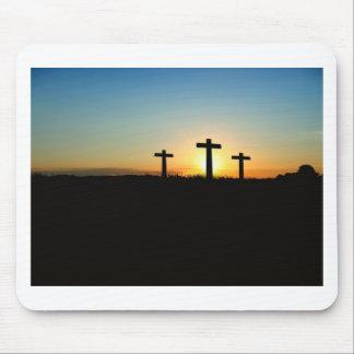 Faith, Hope,  & Love Jesus Christ Cross Mouse Pad