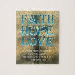 "Faith,Hope,Love Jigsaw Puzzle<br><div class=""desc"">I&#39;ve always loved this bible verse. Hope you enjoy it!</div>"