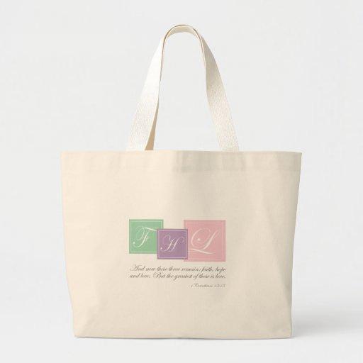 Faith, Hope, Love - Jumbo Tote Bags