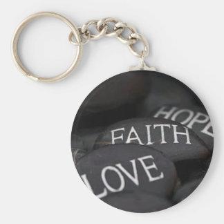 Faith, Hope, Love Keychain