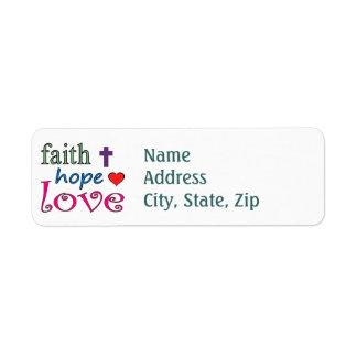 Faith Hope Love Label