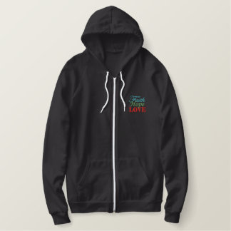"""Faith Hope & Love"" Ladies Sherpa-lined Zip Hoodie"