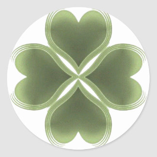 Faith, Hope, Love, Luck Round Sticker