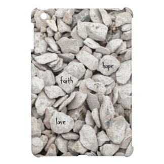Faith, Hope, Love on Rocks iPad Mini Cover