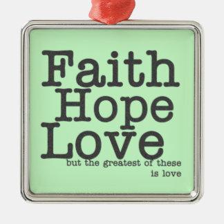 Faith Hope Love Ornament