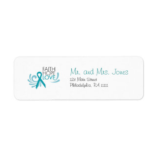 Faith, Hope, Love - Ovarian Cancer Label