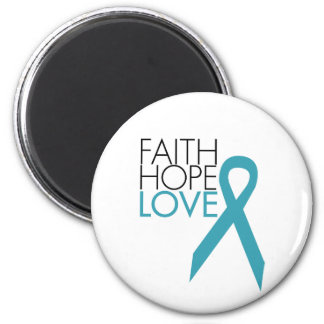 Faith, Hope, Love - Ovarian Cancer Magnet