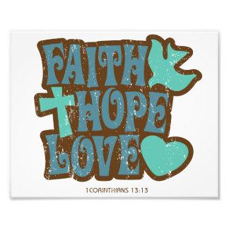 faith hope love photo print