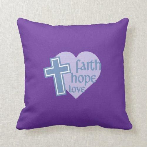 Faith Hope Love Pillow - faith hope and love home decor