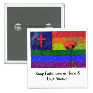 FAITH HOPE & LOVE PINBACK BUTTON