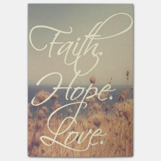 Faith. Hope. Love. Post-it Notes