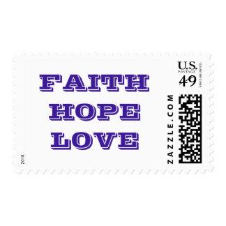 FAITH HOPE LOVE POSTAGE