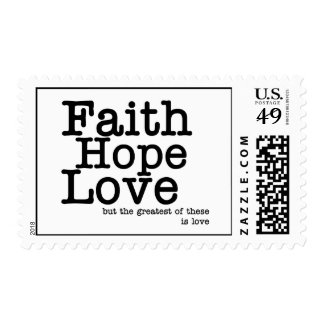 Faith Hope Love Postage Stamps