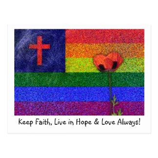 FAITH HOPE & LOVE POSTCARD