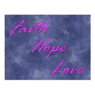 Faith, Hope, Love Postcard