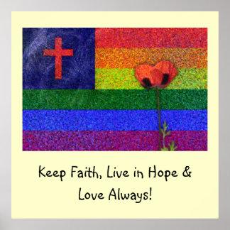 FAITH HOPE & LOVE POSTER