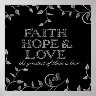 Faith, Hope & Love Print