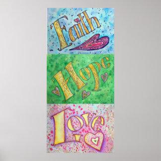 Faith, Hope, Love Poster (Vertical)