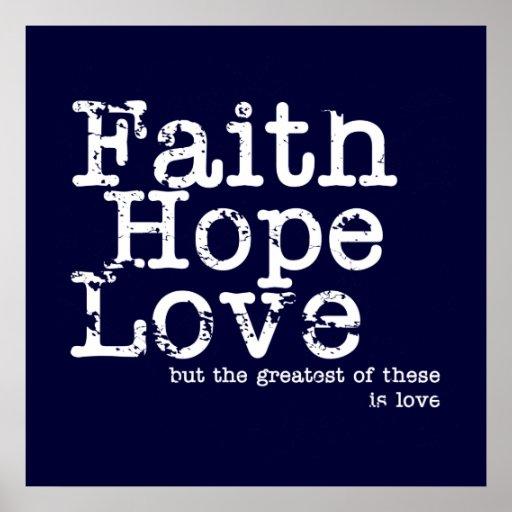 Faith, Hope, Love Print