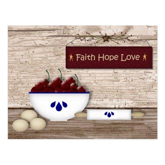 Faith Hope Love Recipe Cards