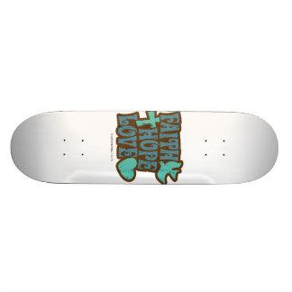 faith hope love skateboard deck