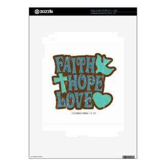 faith hope love skins for the iPad 2