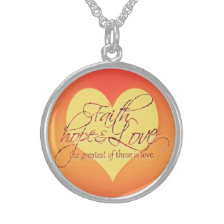 Faith, Hope & Love Sterling Silver Necklace