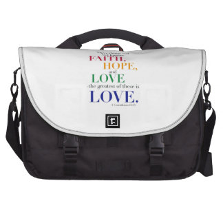 Faith, Hope, Love, the Greatest of these is Love. Laptop Messenger Bag